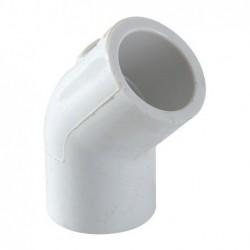 Codo PVC Hidráulico 45° x 1...